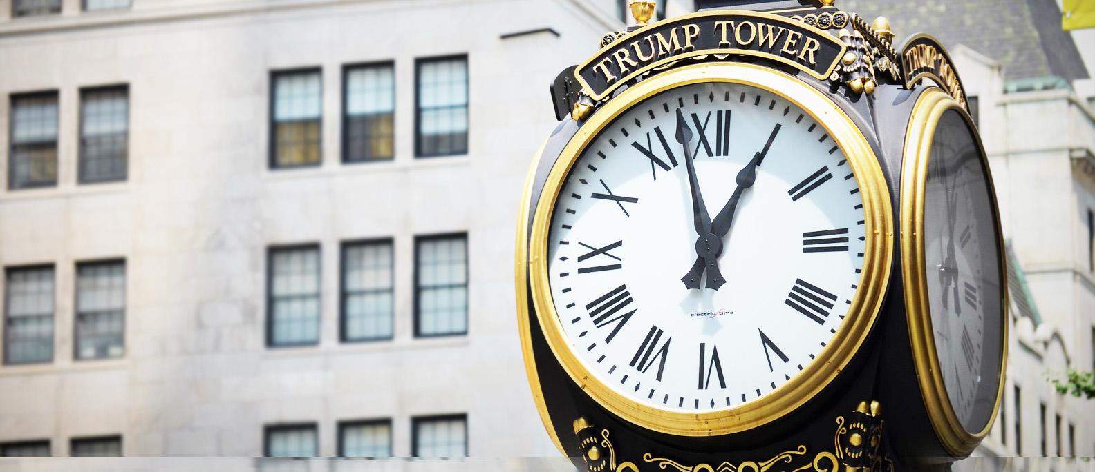 Antique clock at Trump Tower